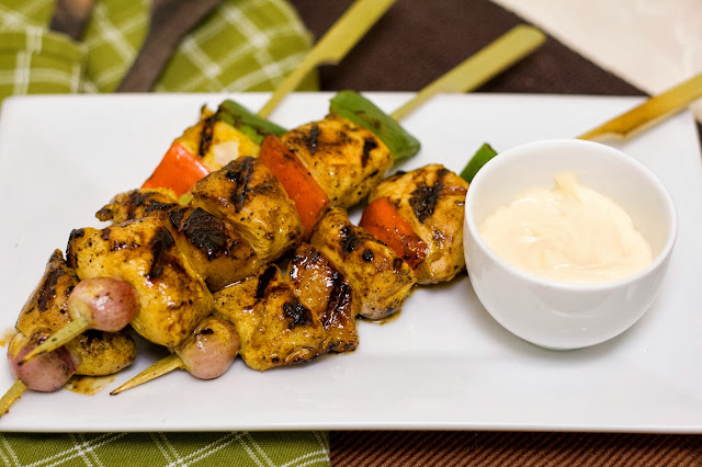 Flavourful Curry Chicken Kebab Recipe