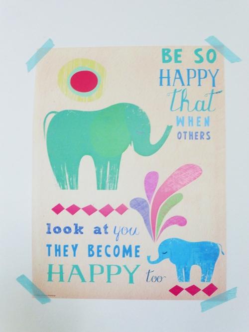 Poster Posterlounge Wandgestaltung Elefanten Kinderzimmer