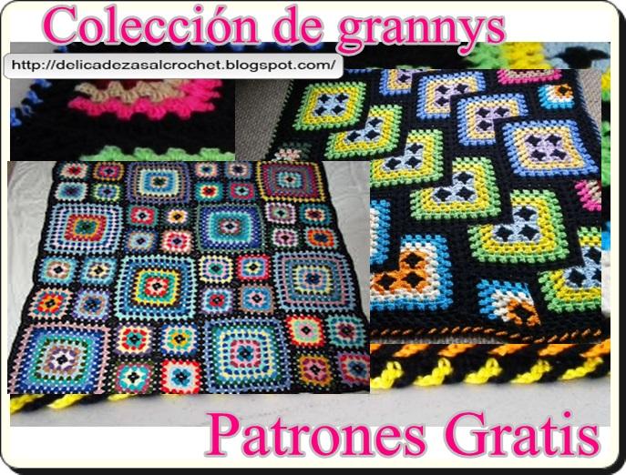 Delicadezas en crochet Gabriela: Patrones gratis ; Cuadrados de la ...