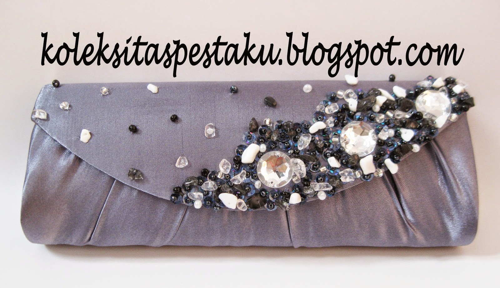 TAS PESTA CLUTCH BAG POLISH METALIC CANTIK