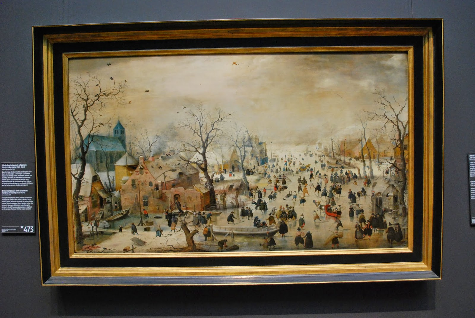 Avercamp, Paysage d'hiver, vers 1600