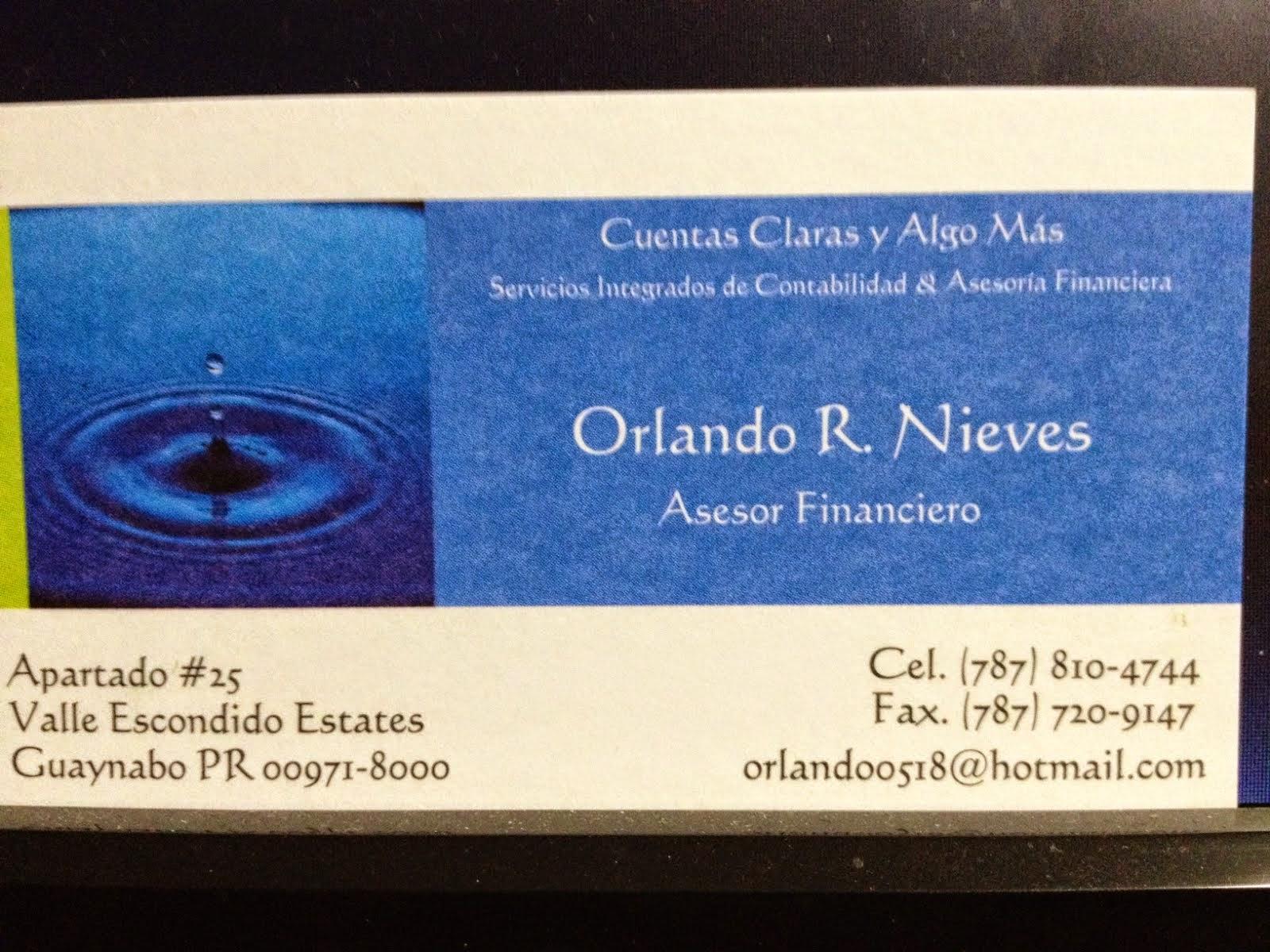 Orlando Nieves/ Asesor Financiero
