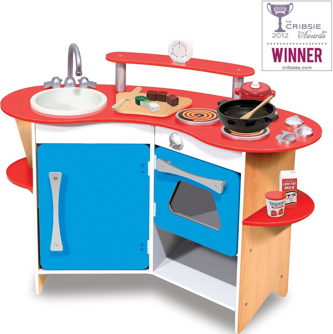 Melissa And Doug Toys : Melissa doug cook s corner wooden kitchen baby cinema