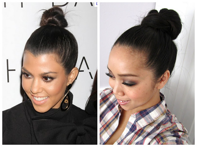 Easy Top Knot Hair Tutorial Inspired by Kourtney Kardashian