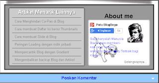 Perpendek Komentar dengan Slide Panel