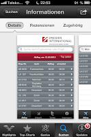 Ansicht App Flughafen Dresden International