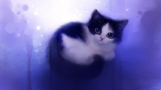 Painting Cute Cat HD Wallpaper