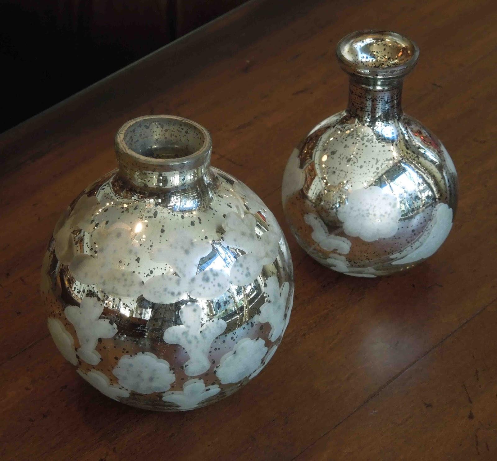 tone on tone holiday decorating with mercury glass