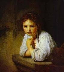 A Young Girl Leaning On A Window Sill, 1645, By Rembrandt