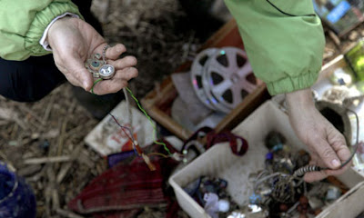 Jewellery found in the ruins of a Staten Island home after Sandy passed through. Photograph: Seth Wenig/AP