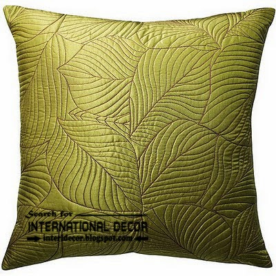Italian pillows and cushions, green pillow, green cushion, stylish pillows styles