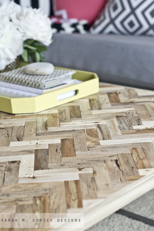 Herringbone Driftwood Table Dorsey Designs