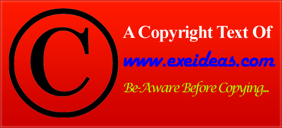 A Copyright Text Of www.exeideas.com