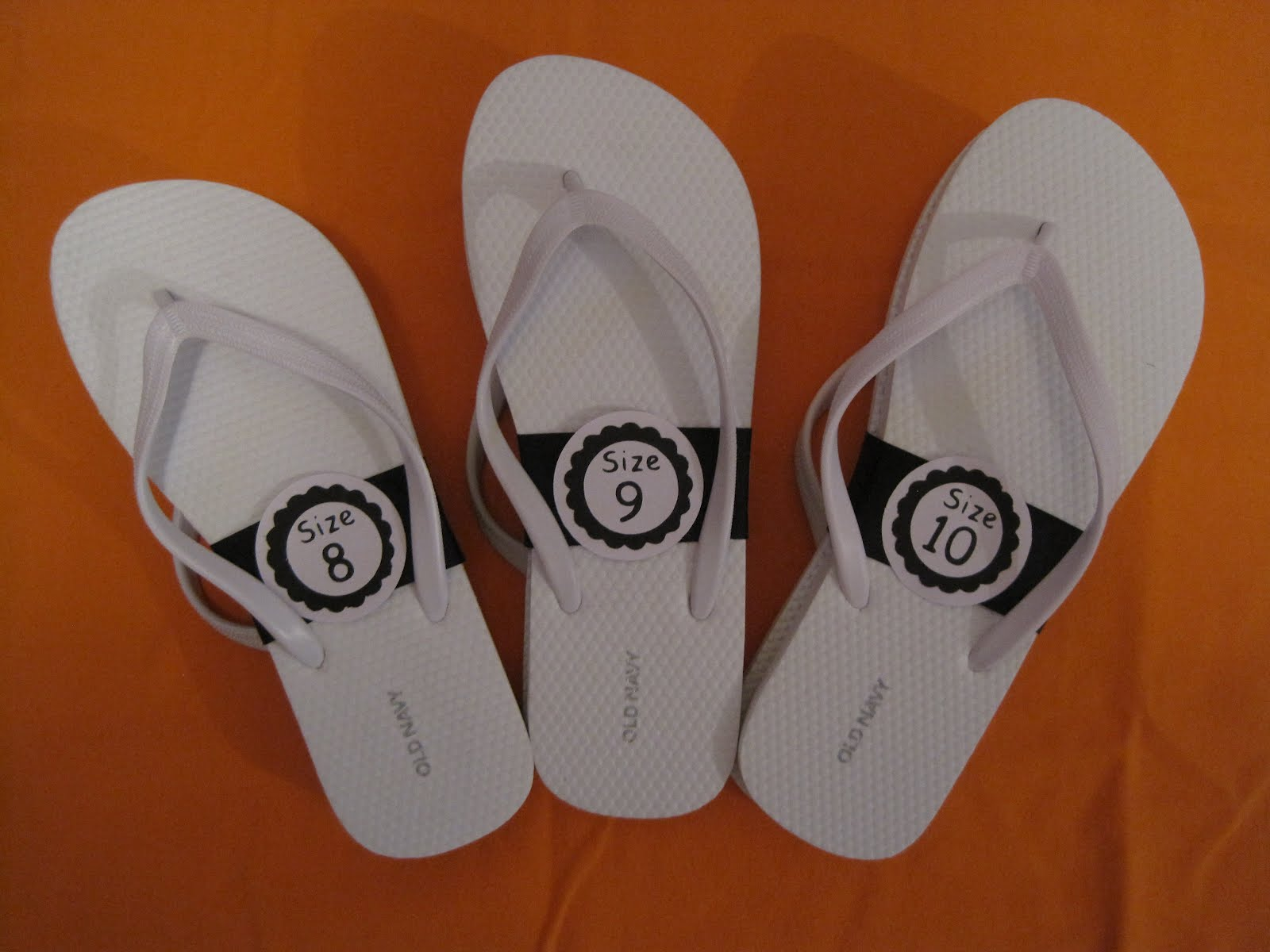 Crafts and Crap: Wedding DIY-Reception Flip Flops