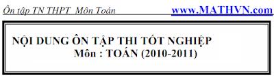 21 chuyen de on thi tot nghiep thpt mon Toan 2011