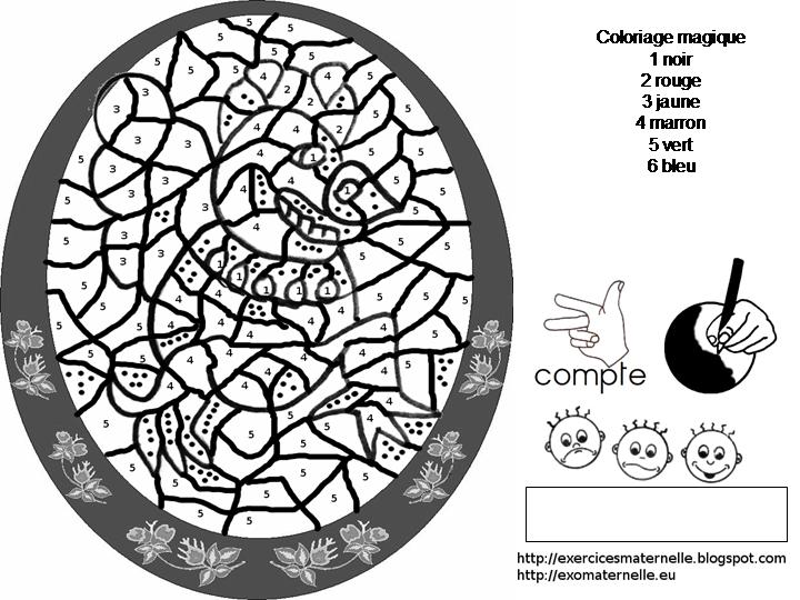 Maternelle: Coloriage Magique : La Poule Molosse
