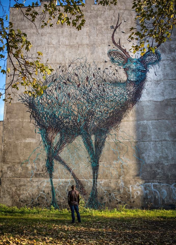 Daleast Creates A New Mural For Urban Forms In Lodz Poland