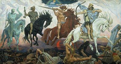 Els quatre genets de l'apocalipsi (Víktor Mijáilovich Vasnetsov)