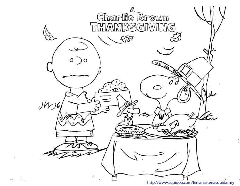 peanuts thanksgiving coloring pages printable - photo#4