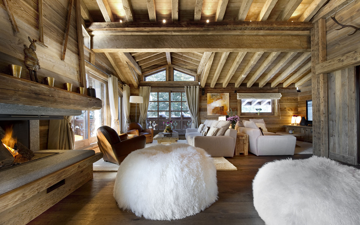 World of architecture 30 rustic chalet interior design ideas for Interieur chalet contemporain