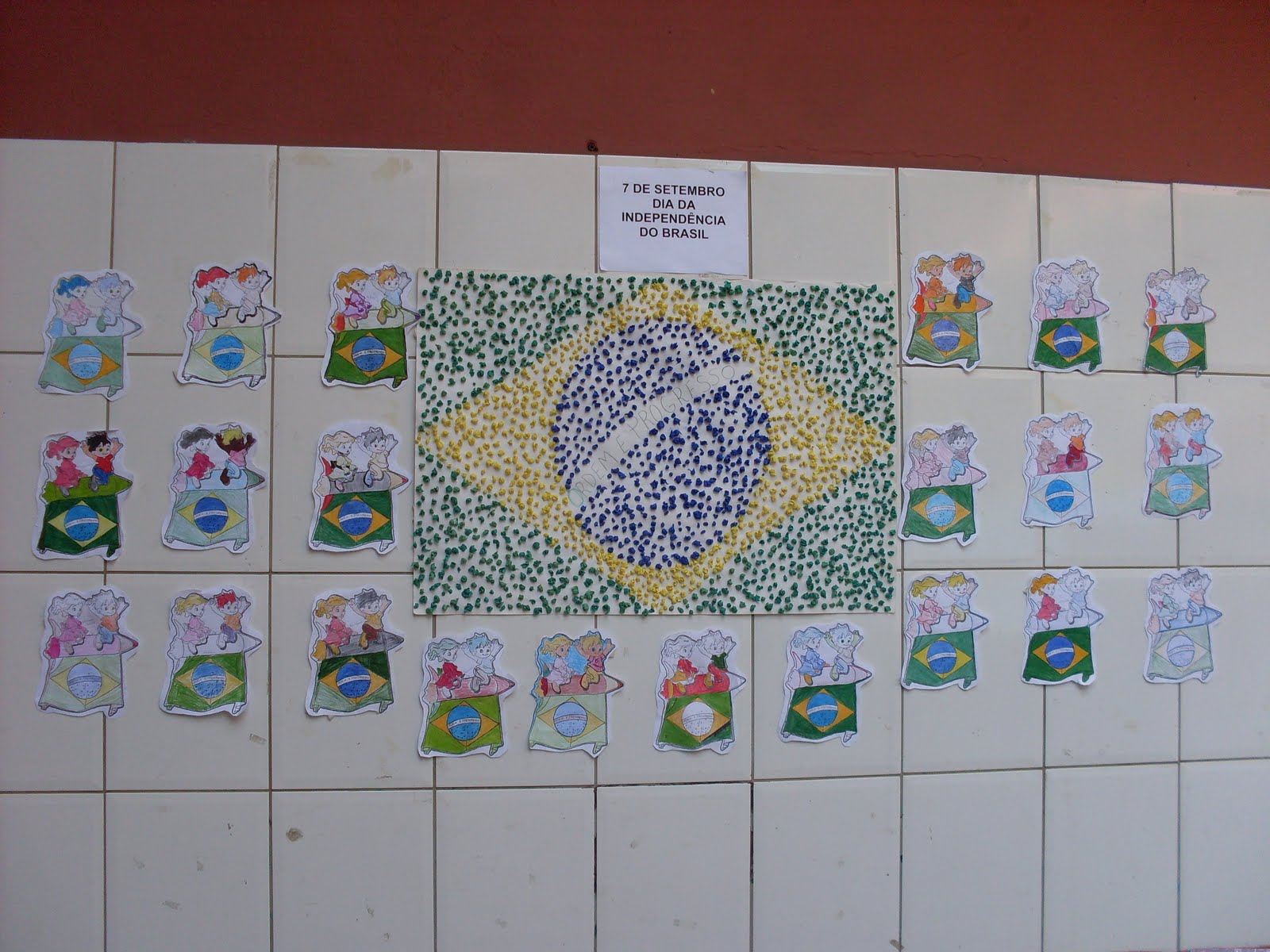 Escola estadual nossa senhora do belo ramo setembro 2011 for Mural 7 de setembro