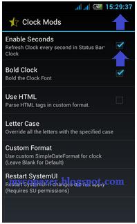 Cara Menambah Detik di Jam Pada Status Bar Android