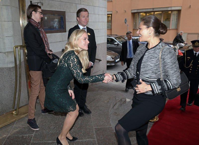 Crown princess victoria of sweden awarded johan s 246 derstr 246 m ceo of