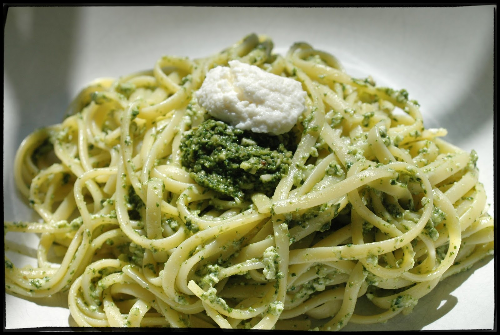 Witchery in the Kitchen: Linguine with Swiss Chard Pesto and Ricotta