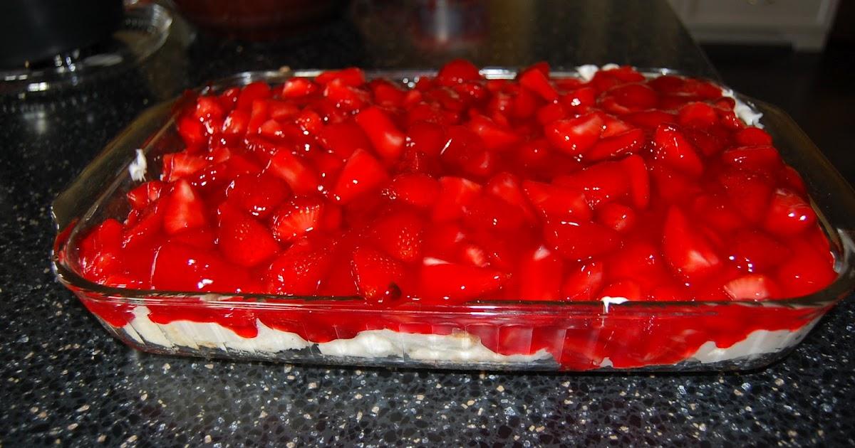 Watercolor Stream Strawberry Angel Food Dessert