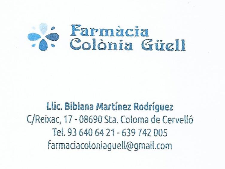 FARMÀCIA COLÒNIA GÜELL