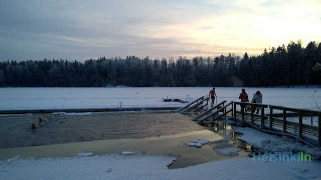 ice swimming in Kuusijärvi