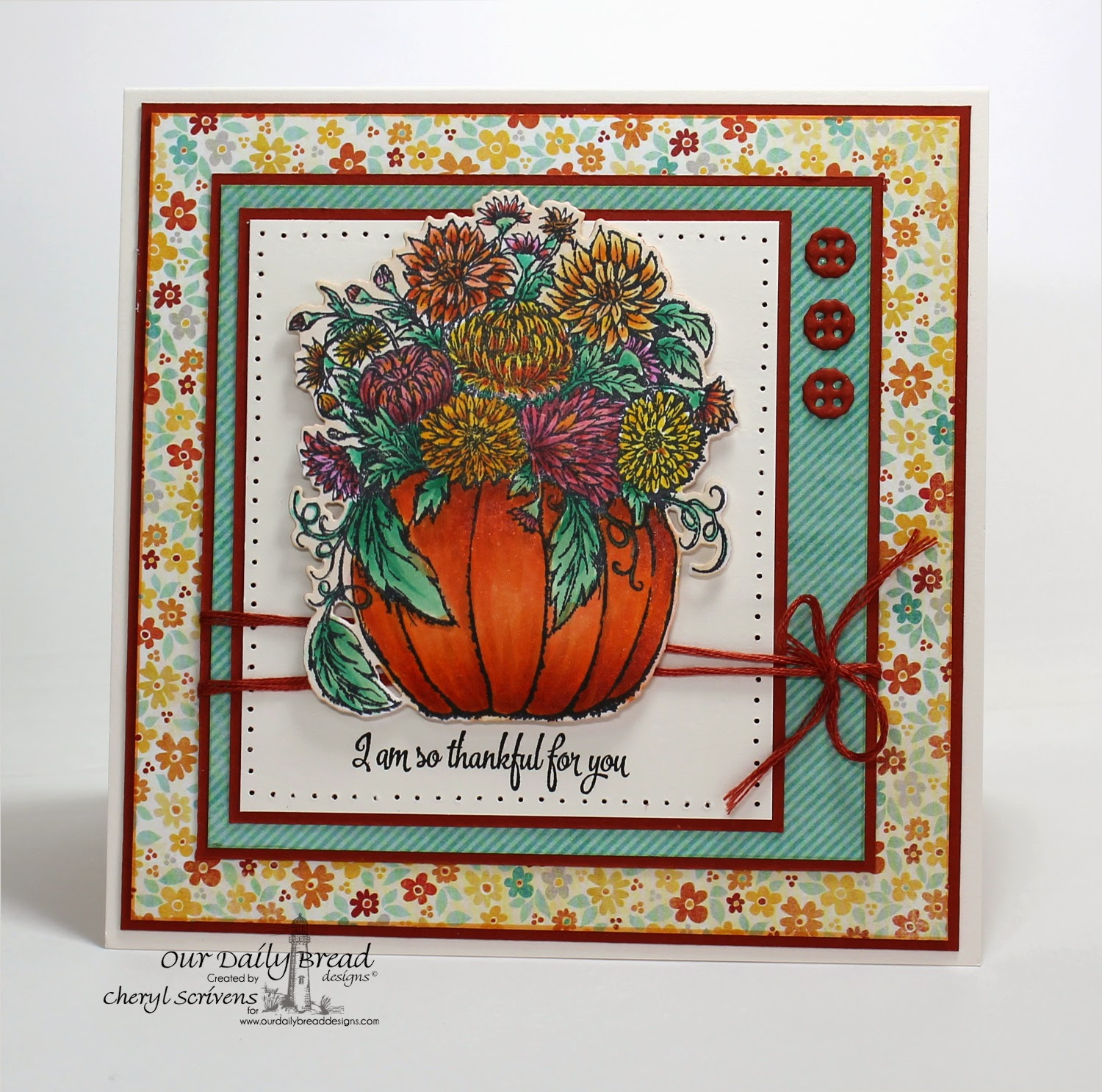 Our Daily Bread Designs, ODBDSLC214, Pumpkin with Flowers, Pumpkin with Flowers die, Doily Blessings, Doily dies, CherylQuilts, Designed by Cheryl Scrivens