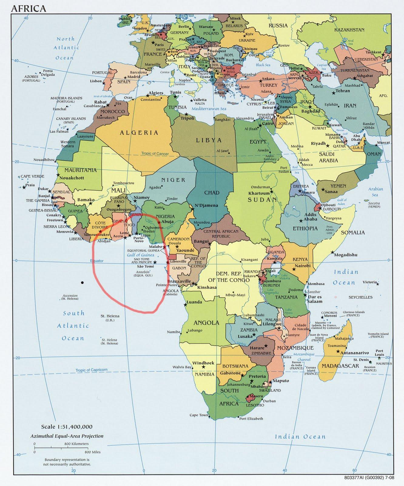 africa map gulf of guinea