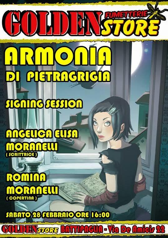 ARMONIA DI PIETRAGRIGIA, PRESENTAZIONE AL GOLDEN STORE CON ANGELICA ELISA E ROMINA MORANELLI
