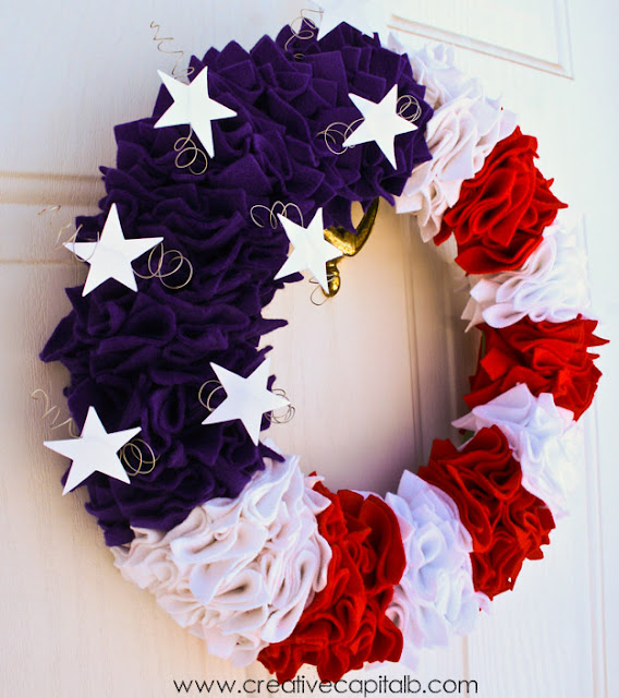 Ruffled+Patriotic+Wreath+white+balance+edit July 4th Decorations, Crafts and Games   Part 2