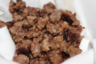 Crumbled sausage