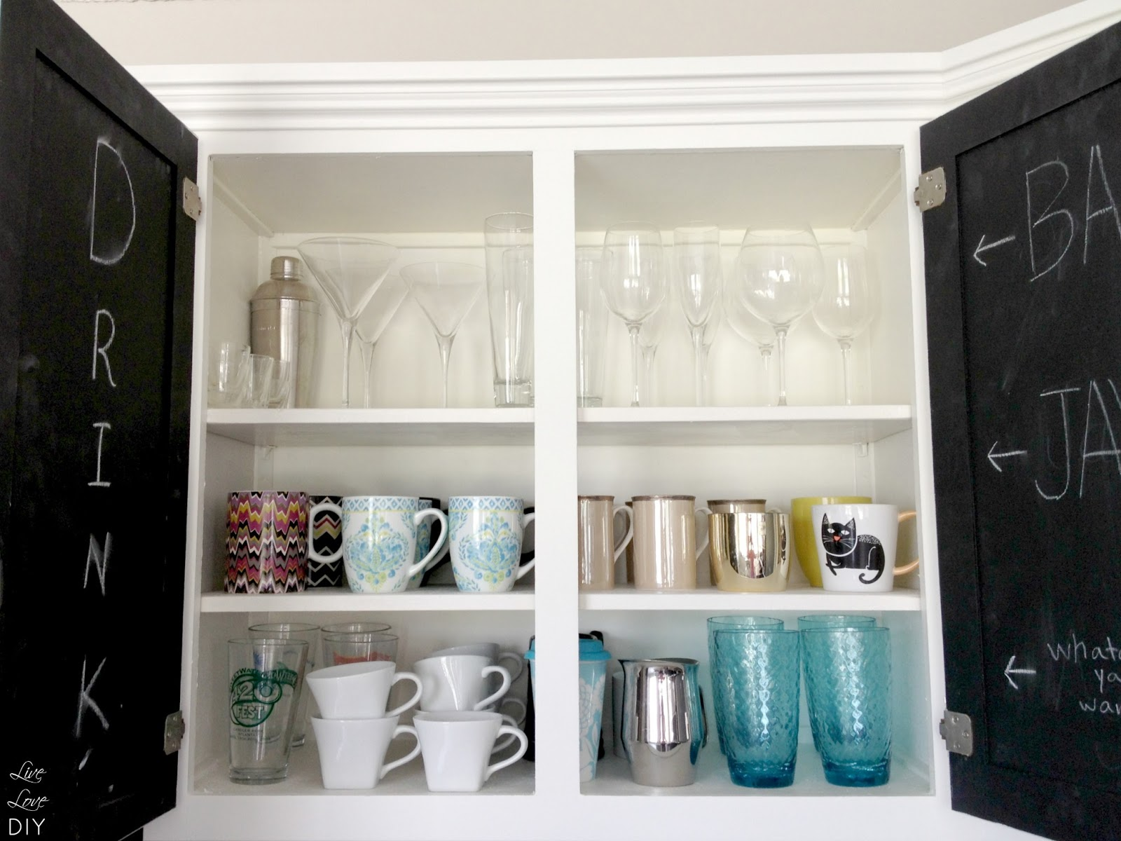 delightful Painting Interior Of Kitchen Cabinets #9: LiveLoveDIY