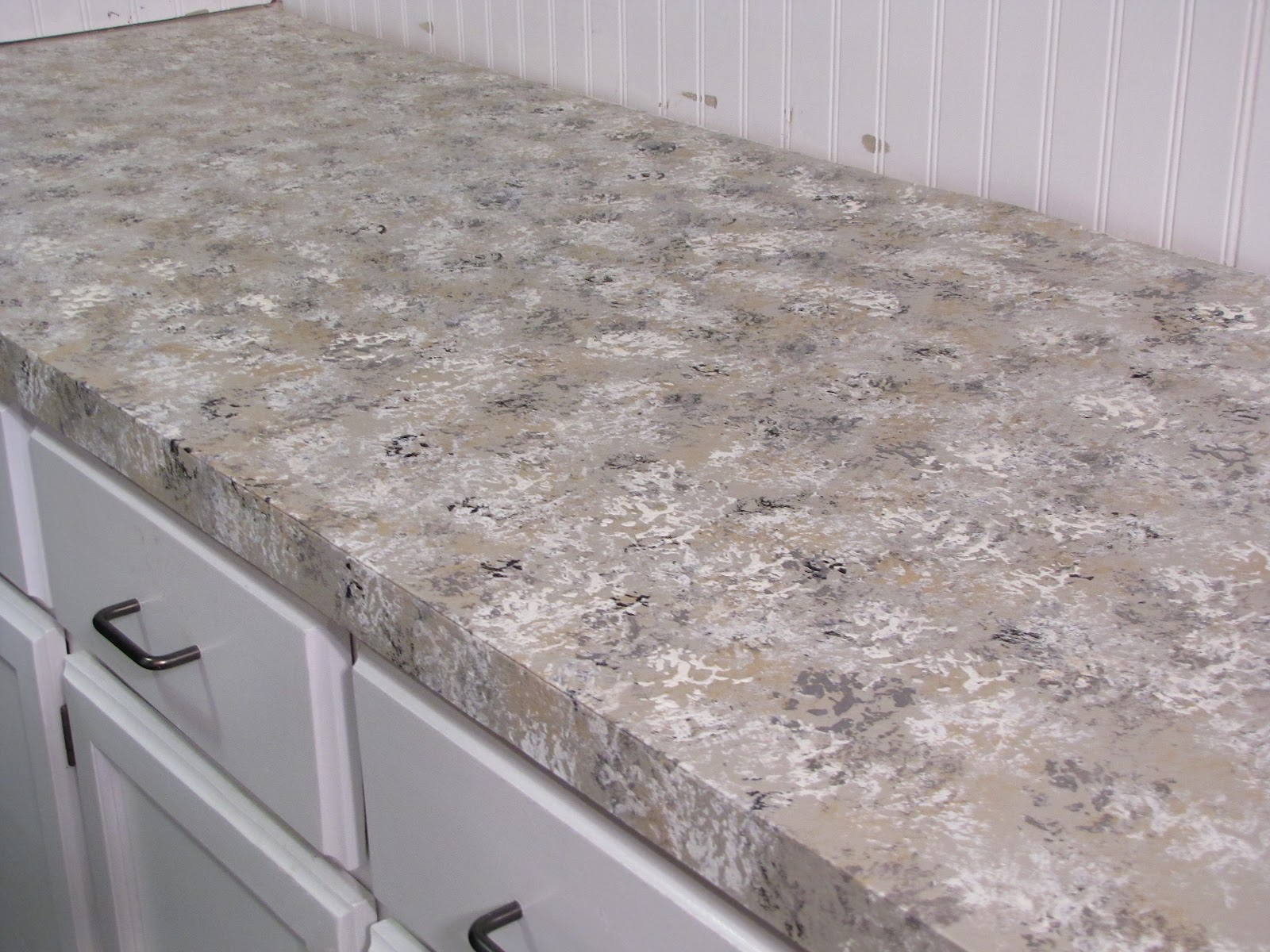 The Modest Homestead: How To Paint Your Countertops To Look Like Granite