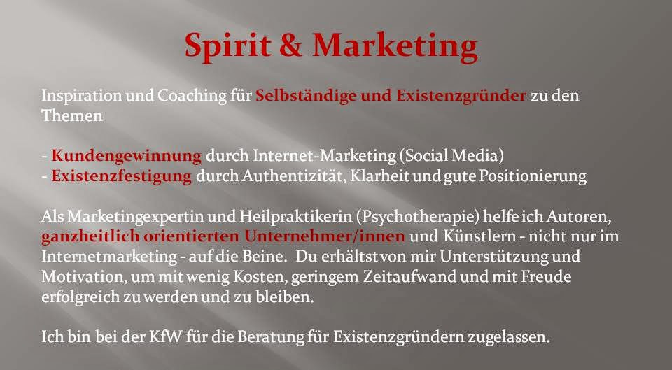 "Angebot von ""Spirit & Marketing"""
