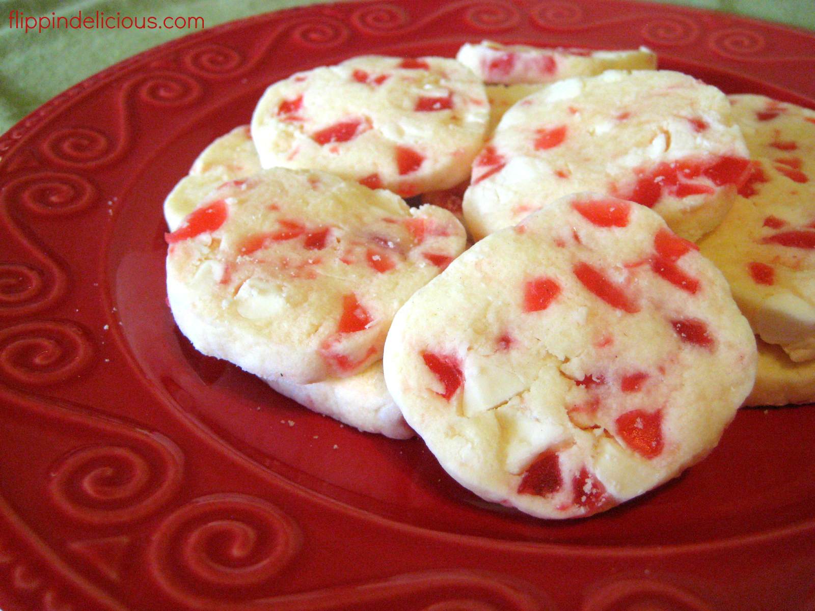 White Chocolate Cherry Kaleidoscope Cookies - Flippin ...