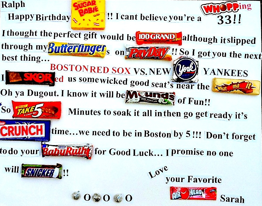 Candy Poster Board Ideas For Birthdays Best Candy 2018