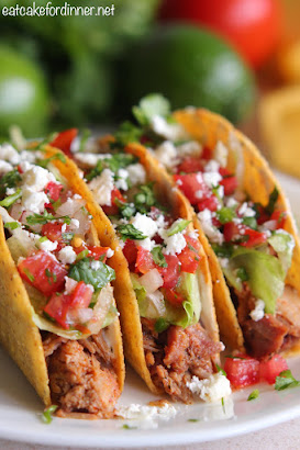 Crunchy Shredded Pork Tacos