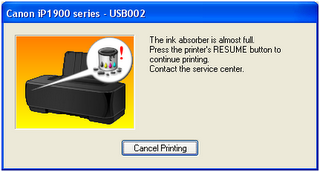 Reset printer Canon MP 287