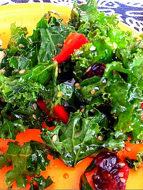 asian kale salad 1 bunch kale ribs removed and sliced thinly or ...