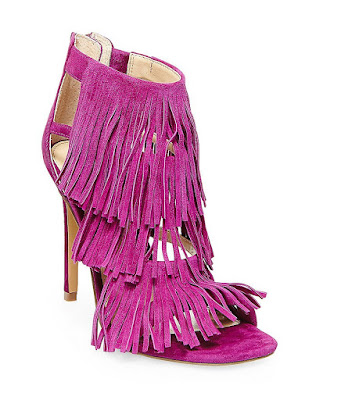 Steve Madden purple high heeled sandals with fringe