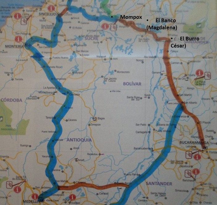 Mompox colombia como llegar a mompox for Como llegar al ministerio del interior