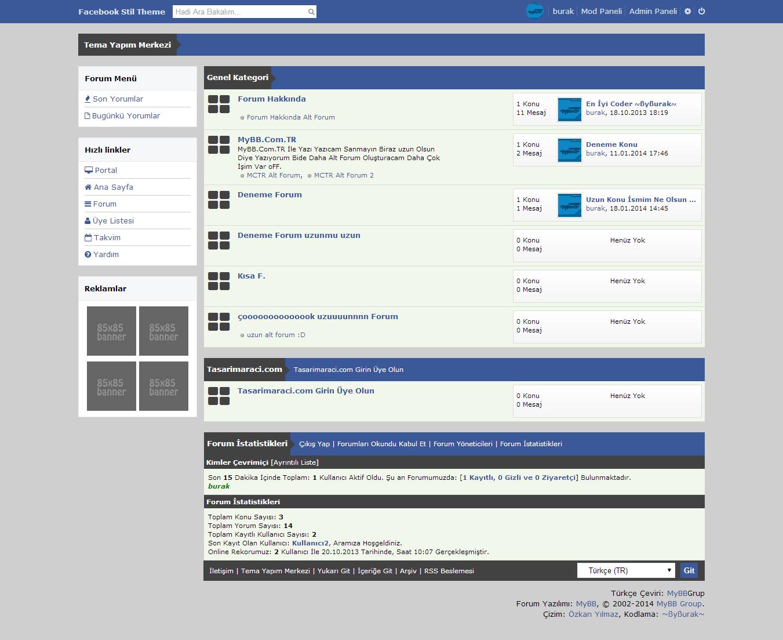 MyBB Facebook Teması