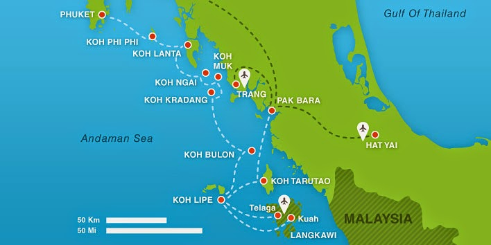 Boat schedule routes to Koh Lipe