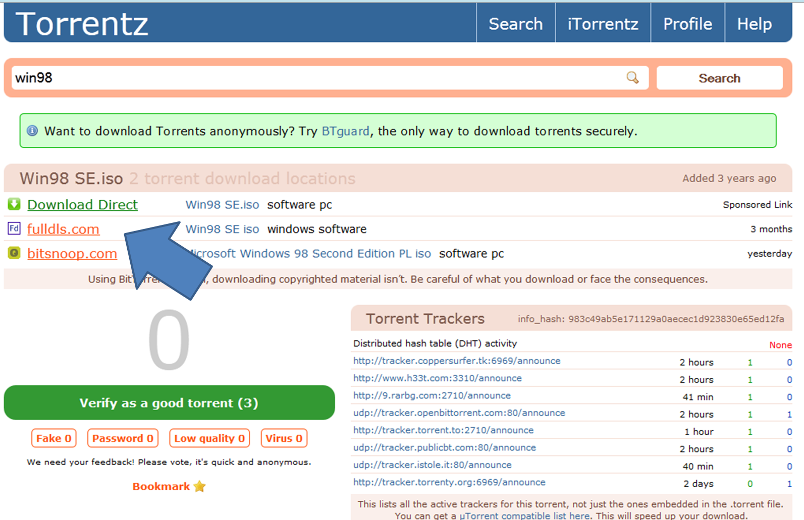 itorrentz driverlayer search engine