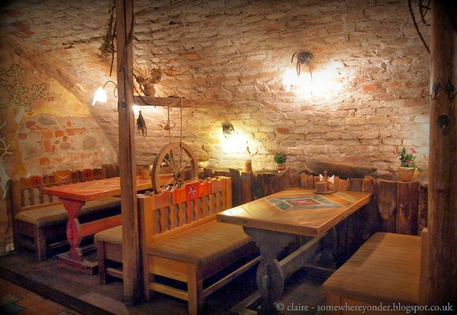 Restaurant built in an old monastery, Vilnius Lithuania